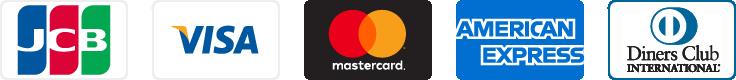 ご利用可能なクレジットカードのブランドアイコン一覧