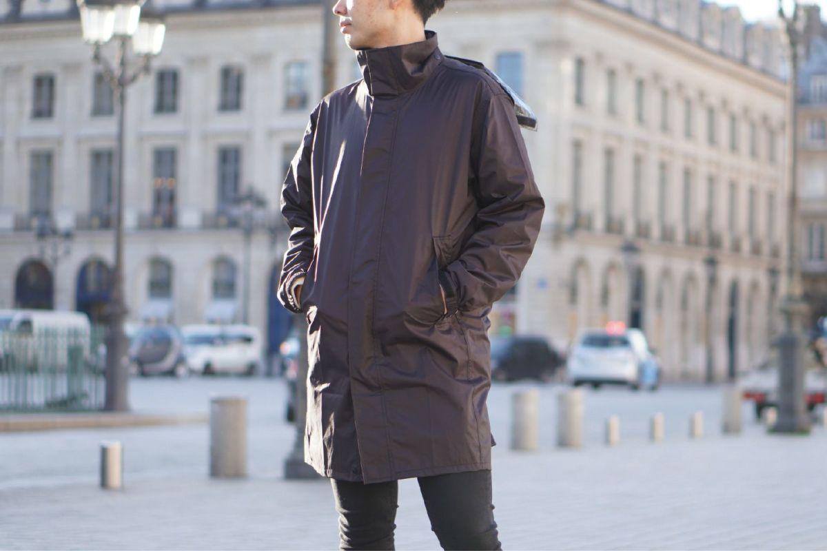 ブラック 着用イメージ [男性モデルのサイズ]身長:175cm 着用サイズ:L