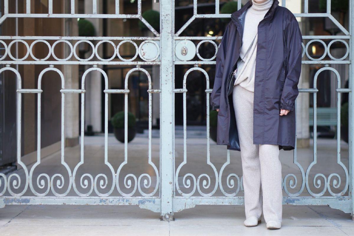 ブラック 着用イメージ [女性モデルのサイズ]身長:163cm 着用サイズ:L
