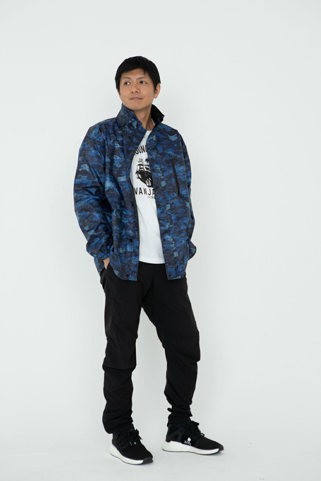 詳細:着用イメージ デジカモ ジッパーオープン  [男性モデルのサイズ]身長:174cm 着用サイズ:L