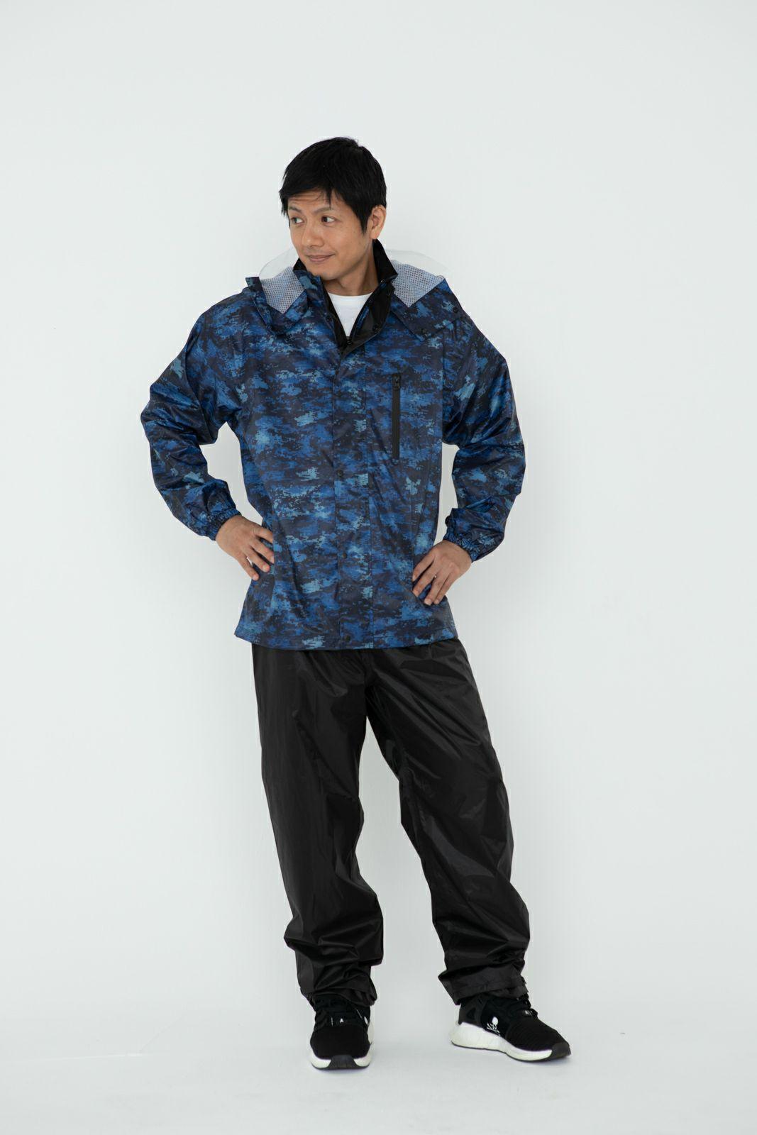 詳細:着用イメージ デジカモ ジッパークローズ  [男性モデルのサイズ]身長:174cm 着用サイズ:L