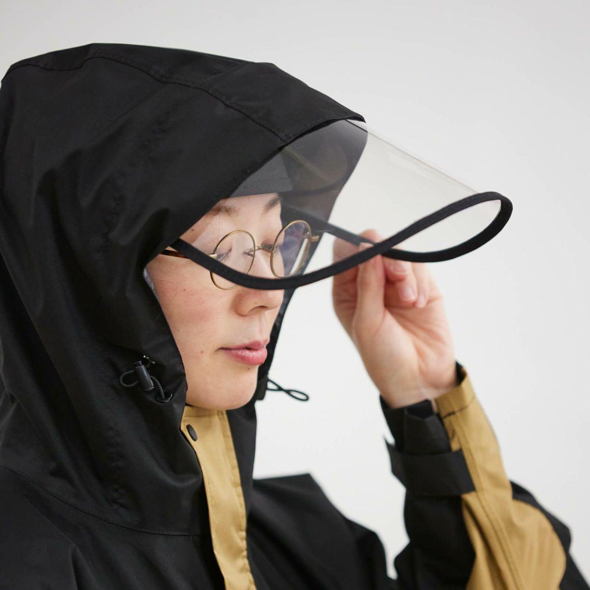 雨の自転車に最適。すっぽりカバー。